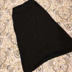 Women's jersey knit maxi skirt